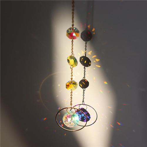 Color Crystal Wind Chimes Hanging Craft Wind Bell Glass Wind Chimes Home Decor For Your Garden Terrace Or Lawn Room Decor