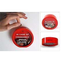 Coin Piggy Bank Novelty Glass Red Money Box Creative Emergency Coin Bank Storage Cans Children Gift Home Decoration 2020 New