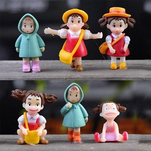 NEW Mini Figurines Miniature Girl Resin Crafts Ornament Fairy Garden Gnomes Moss Terrariums Home Decorations Wholesale