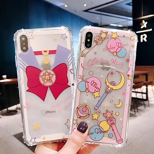 Sailor Moon Cell Phone Protective Case Phone Case Cosplay Anime Adult Lovers Tsukino Usagi For IPhone X / Xs / Max / XR / 7/8