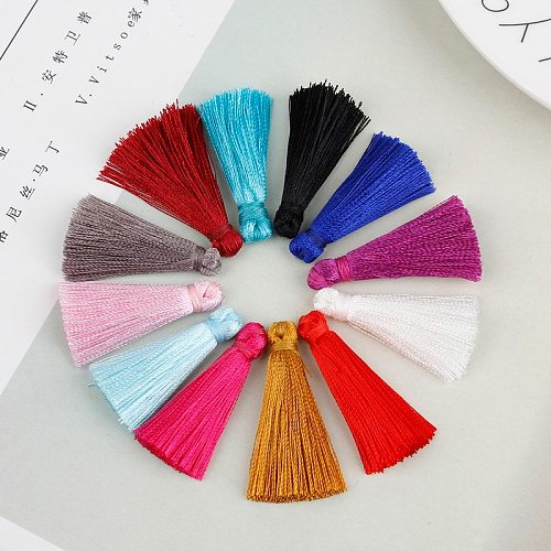 10pcs/lot 35mm Artificial Silk Tassel 12 Colors Rayon Tassels for DIY Craft Jewelry Making Straps Keychain Earring Accessories