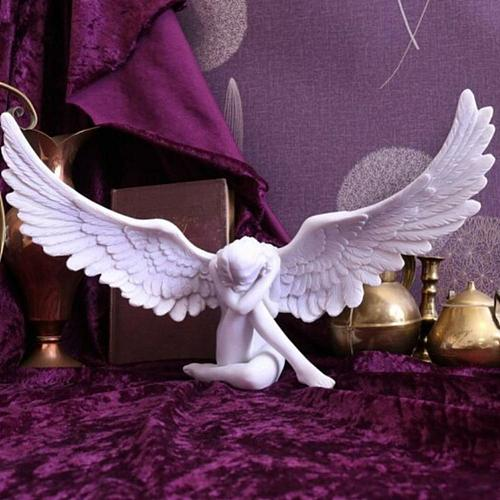 Goddess Angel Statues Resin Ornaments Home Decoration Goddess Figurine Sculpture Angel Wing Miniature Model