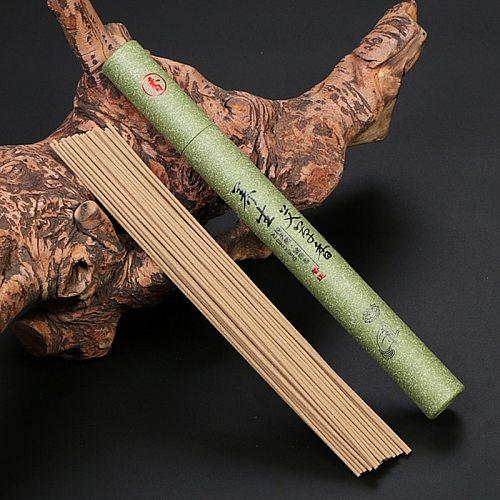21cm Summer Sleep Incense Natural Sandalwood Essential Home Incense Stick Aroma Indoor Indoor Ceremony Buddha Incense 40Pcs/Box