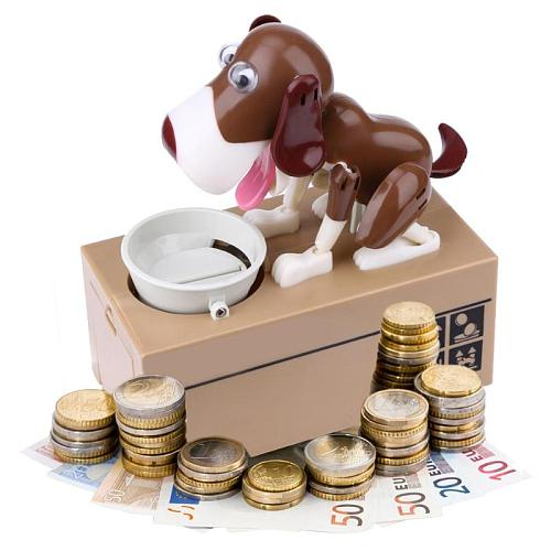 Cartoon Robotic Dog Money Box Doggy Bank Money Bank Automatic Stole Coin Money Saving Box Kids Gift