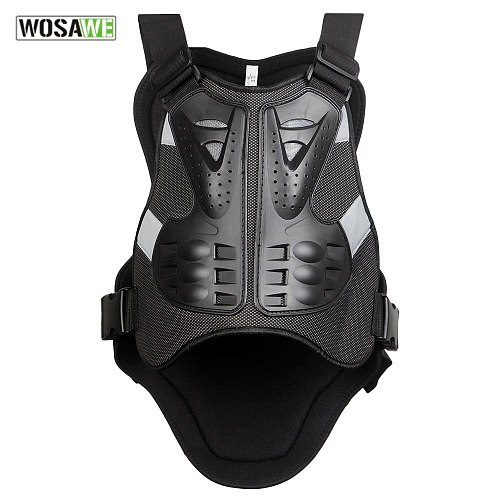 WOSAWE Body Protector armor Motorcycle jackets Motocross back shield sleeveless vest Spine Chest Protective gears Jacket mens
