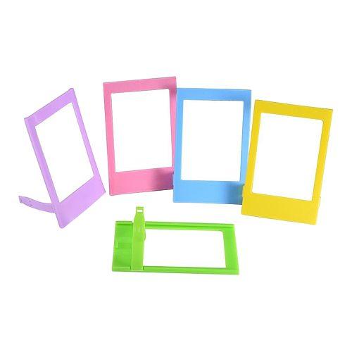 5 Colors 3'' Mini Plastic Table Photo Frame for Mini Film taken for Fujifilm Instax Mini 9 8 8+ 7s 70 90 25 SP1 SP2