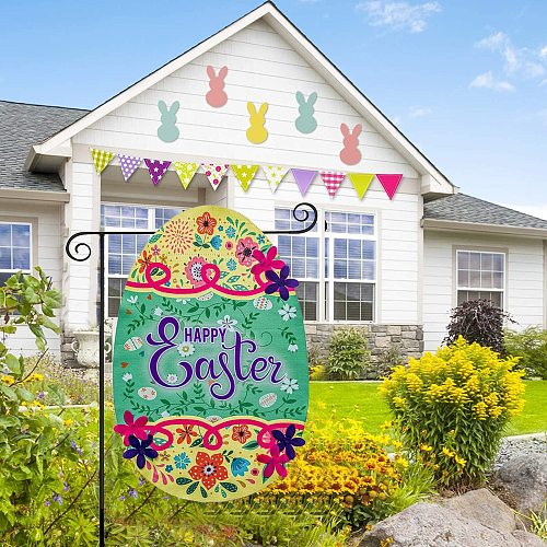 NEW Garden Decoration Easter Garden Flag Happy Easter Holiday Decoration Banner Home Decoration Outdoor House Flag Accessories
