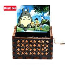 NEW Totoro Music Box Hand-ed Wood Musical Box Spirited Away Children's Girl gift Birthday Gift Enough Stock