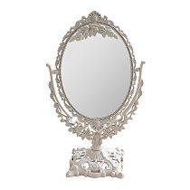 1pcs Desktop Makeup Mirror Vintage Style Girl Relief Decor Mirror Double Sided Relief Decor Makeup Mirror Cosmetics Mirror A50