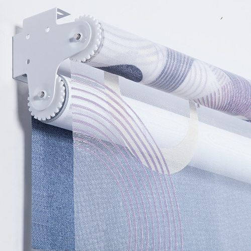 Bead Rope System Manual Dual Roller Blinds Day and Light Shutters Suitable for Office Kitchen Bed Room Customized Size
