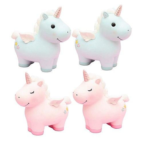 New Arrival Lovely Unicorn Ceramic Piggy Bank Money Coin Storage Box Children Creative Saving Pot Home Decoration Christmas Gift