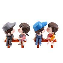 3Pcs/set DIY Mini Stool Couples Dolls Fairy Garden Miniatures Decor Dollhouse/Terrarium Action Figures Figurine Micro Landscape