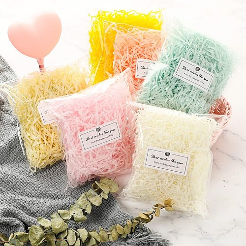 10g-100g Raffia Confetti Wedding Party Candy Gift Box Filling Material Birthday Christmas Packaging Home Decoration Accessories