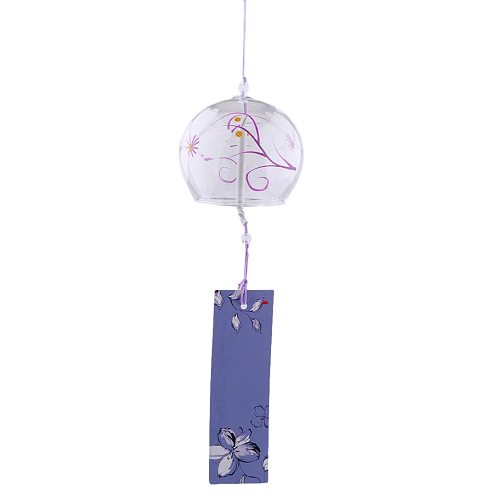Japanese Culture Glass Wind Bell Furin Wind Chime Home Hanging Decor