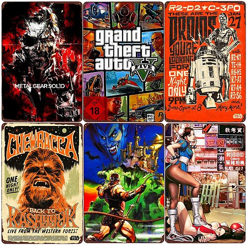 Hot Games Retro Metal Tin Sign Home Bar Club Wall Decor Classic Single Game Metal Poster Gamer Vintage Plaque Gift for Kids N381