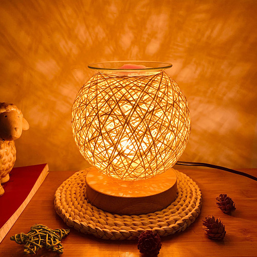 Home Decor Electric Wax Warmer Burner Melter Fragrance Oil Heater Nightlight Table Decoration Plug In Wax Candle Melt Warmer