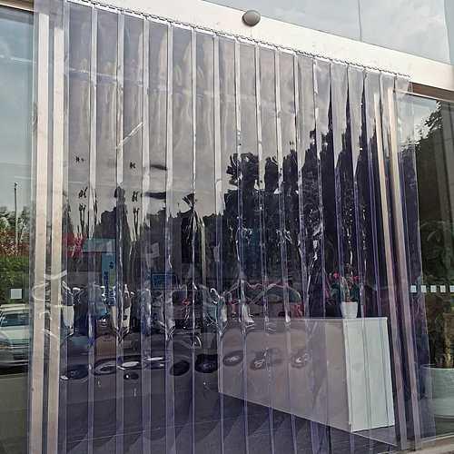 1PCS PVC Strip Curtain Freezer Room Door Curtain Screws Kit Hanging Rail Divider Dustproof Windproof Heat Insulation Curtain