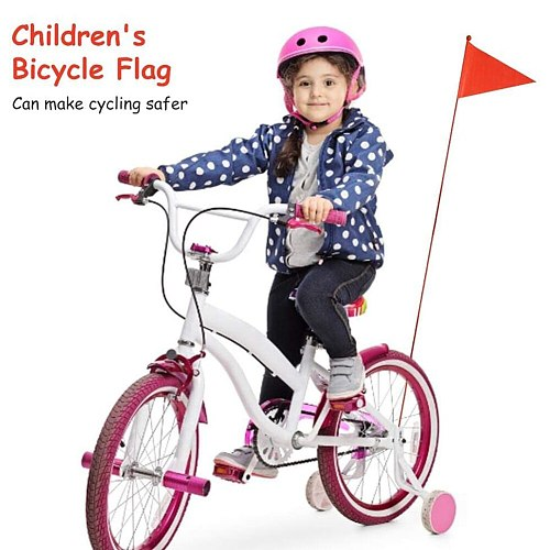 1.2m Bicycle Safety Flag Banner with Mounting Bracket Triangular Children Bike Biking PortableDustproof Cycling Accessories