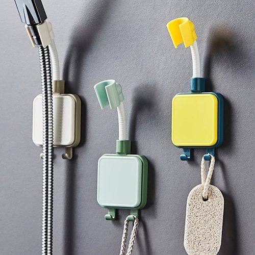 Adjustable Shower Adjusting Bracket Bathroom Shower Head Holder Wall Mounted Hand Shower Holder Three Colors Optional 2021 New