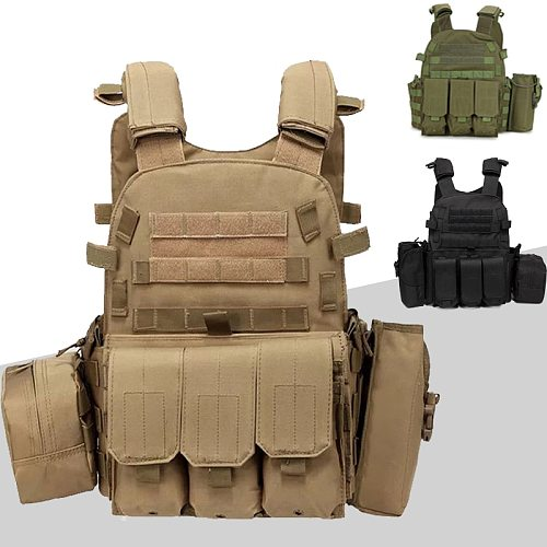 6094 Tactical Vest Molle System Hunting Body Armor Military Plate Carrier Vest Paintball Airsoft Gear Army Vest