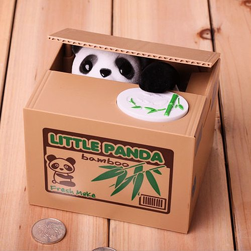 Panda Coin Box Kids Money Bank Automated Cat Thief Money Boxes Toy Gift for Children Coin Piggy Money Saving Box