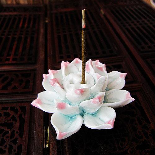 New Lotus Incense Burner Holder Ceramic Handicraft Incense Burner Holder for Home SCI88