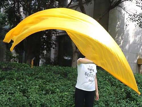 1 piece 2.2m*0.9m(88 *34 ) 5mm silk gold worship flag/banner, Acrylic rod