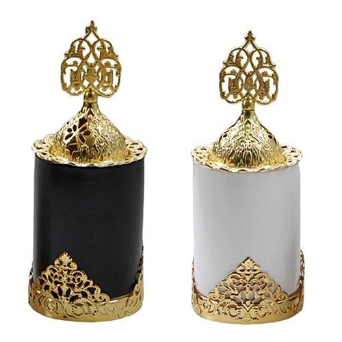 Nordic Ceramics Incense Burner Holder,Metal Arabic Style Incense Burner,for Home Decorative,Luxury Ornaments