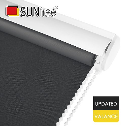 SUNFREE Valance system Roller Blinds Daylight and Blackout fabric window shutters for living room bedroom office Made to measure