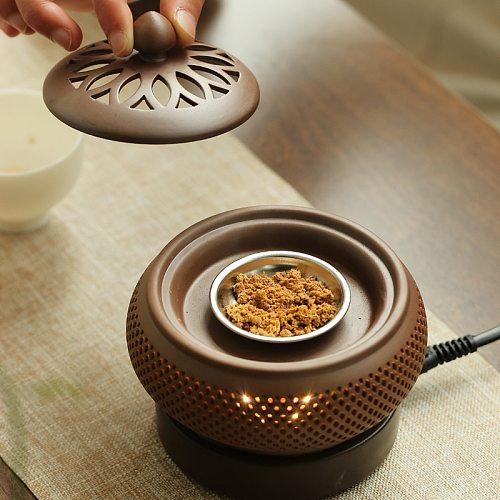 Electronic aroma diffuser fragrance powder flavor regular temperature adjustment and heating electric diffuser incense burner
