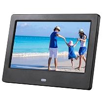 2019 7 Inch LCD Screen HD LED Backlight Electronic Photo Album Digital Picture Frame Music Film Video Full Function Good Gift
