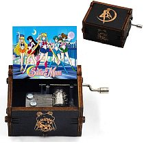 Antique Hand Craft Sailor Moo Can't Help Falling In Love Hand Crank Music Box Queen Bohemian Rhapsody Christmas Gift