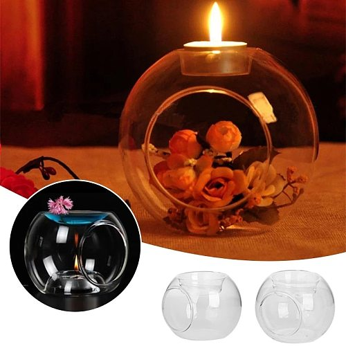 1 x Nordic Glass Essential Oil Candle Aromatherapy Fragrance Modern Concise Aroma Burner Home Wedding Decoration