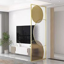 Light Luxury Stainless Steel Screen Customization, Metal ScreenPartition, Living Room Entrance Hall SUS 304
