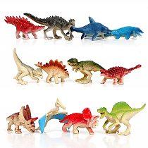 12pcs Mini Action Figures Dinosaur models Triceratops Stegosaurus Figurines Miniature Model gift for Kids toys