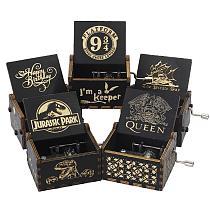 2021 Jurassic Park Music Box You Are My Sunshine Wooden Hand Crank Music Christmas Gift Birthday Gift New Year's Dropshipping