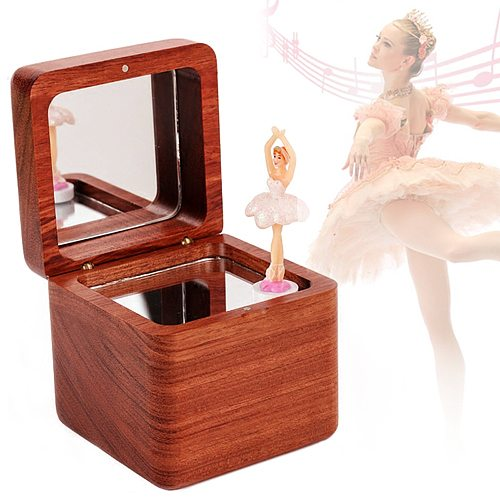 Sinzyo Wooden Ballet spinning dancing girl music Box Music box Creativity Send children's birthday Valentine's Day Christmas