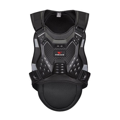 WOSAWE Motocross Jacket Chest Back Protector Moto Body Armor Guard Adult Racing Body Protector Armor Motorcycle Protective Gear