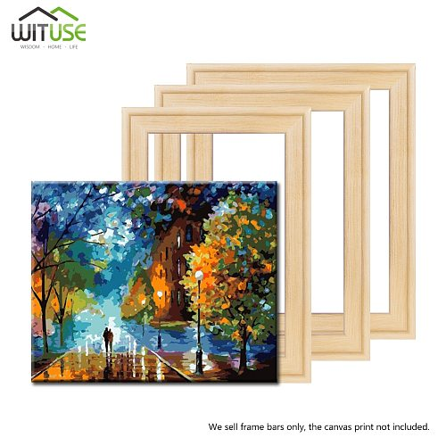 Professional solid DIY wooden frame kit Pine wood for Large Size Wall oil painting Frames Gallery Canva picture Photo Snap frame