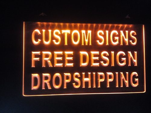 design your own Custom ADV LED Neon Light Sign Bar open Dropshipping decor shop crafts led