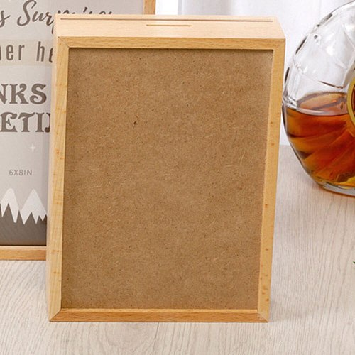 Wooden Photo Frame Multi Function Safe Box Piggy Bank Coins Money Storage Box Family Picture Frame Home Decor Gifts