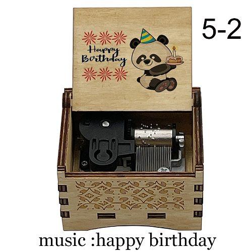 creative color print Music Box music happy birthday mechanical Musical Box Decorative Boxes kids wife girlfriend Birthday Gift
