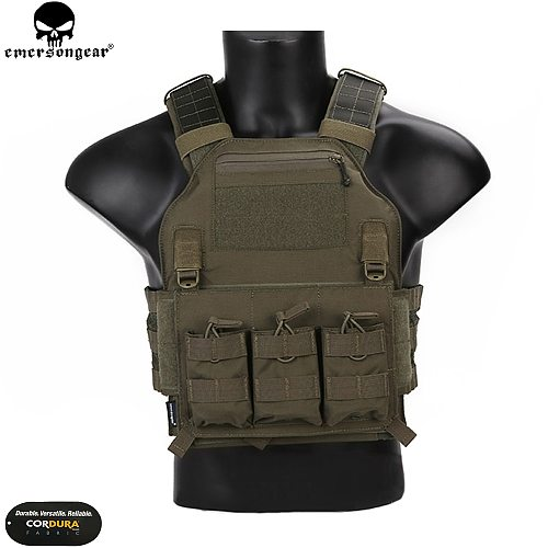 EMERSONGEAR Tactical Vest 420 Plate Carrier Molle Body Armor Swat Vest Harness Airsoft Military CS Protective Gear