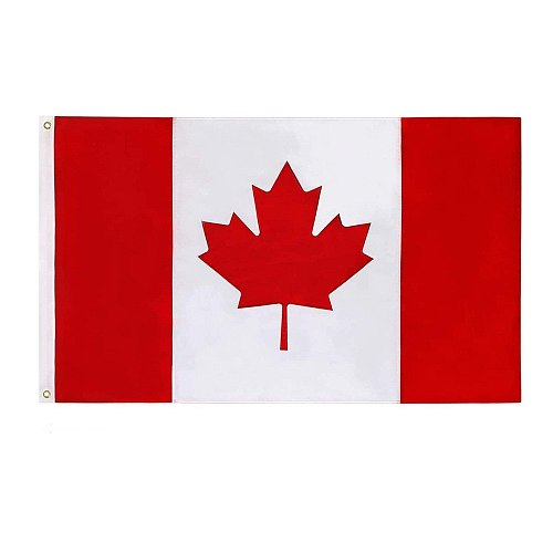 Great Canadian Flag Banner Hanging Flag 90x150cm High Quality Canada National Polyster Canada Flag Grommets Accessories #YJ