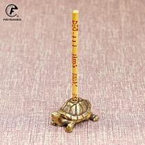 Vintage Brass Japanese Tortoise Incense Holder Burner Small Tea Pet Ornament Animal Turtle Figurines Miniatures Desk Decorations