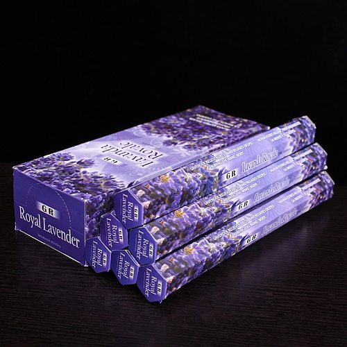 High Quality Lavender Indian Incense Sticks Buddhist Supplies Stick Incense Living Room Scent for Home 2/6 Tubes Incense