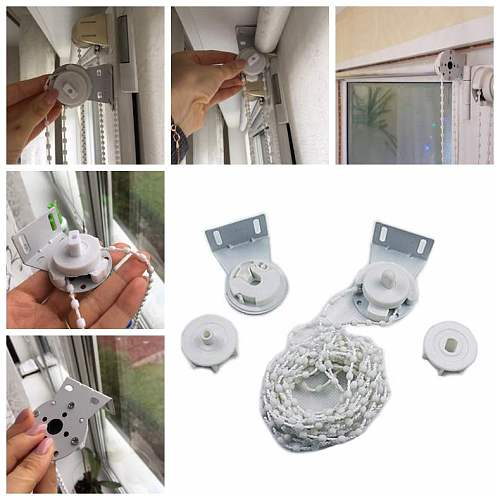 28mm Manual Roller Blinds Bead Chain Curtain Shutter Accessories Zipper volet roulant Window Blind Bathroom Home Accessories