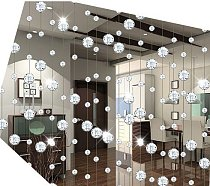 free shipping 10meters/lot,AAA+glass Crystal wheel bead Curtain Divider glass Beaded Strands