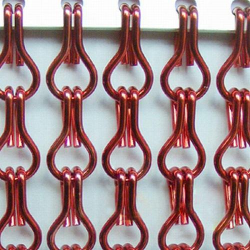 Aluminum Chain Door Blinds for Indoor Decoration-90cm W x 210cm H