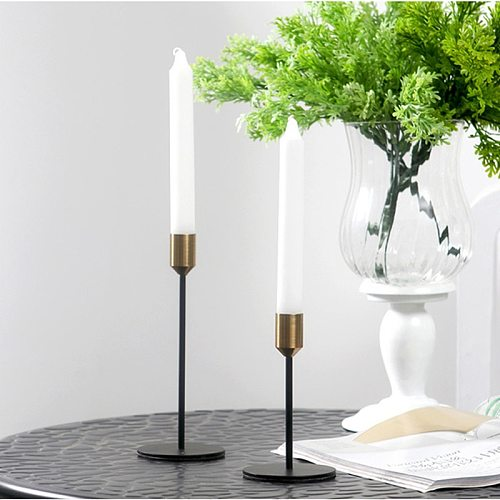 IMUWEN Nordic Style Candle Stand  Metal Candle Holders Fashion Wedding Bar Party Exquisite Candlestick For Table Home Decoration